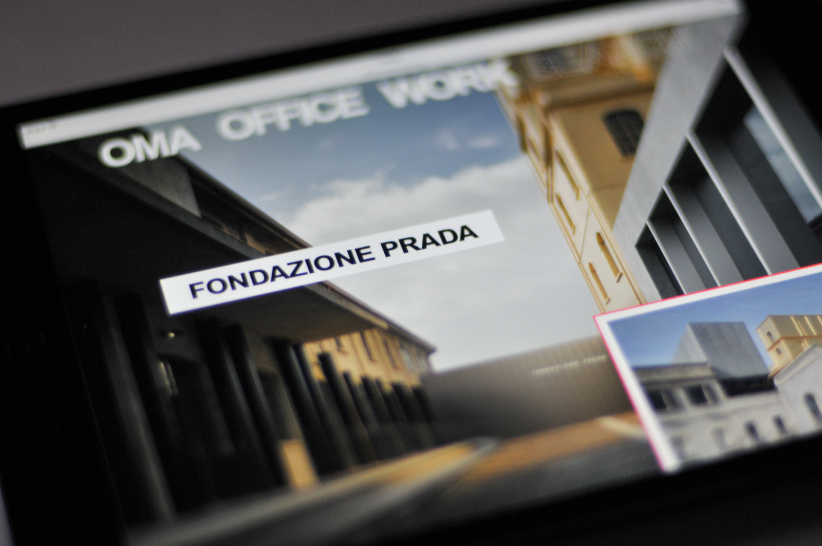 Fondazione Prada on the front page